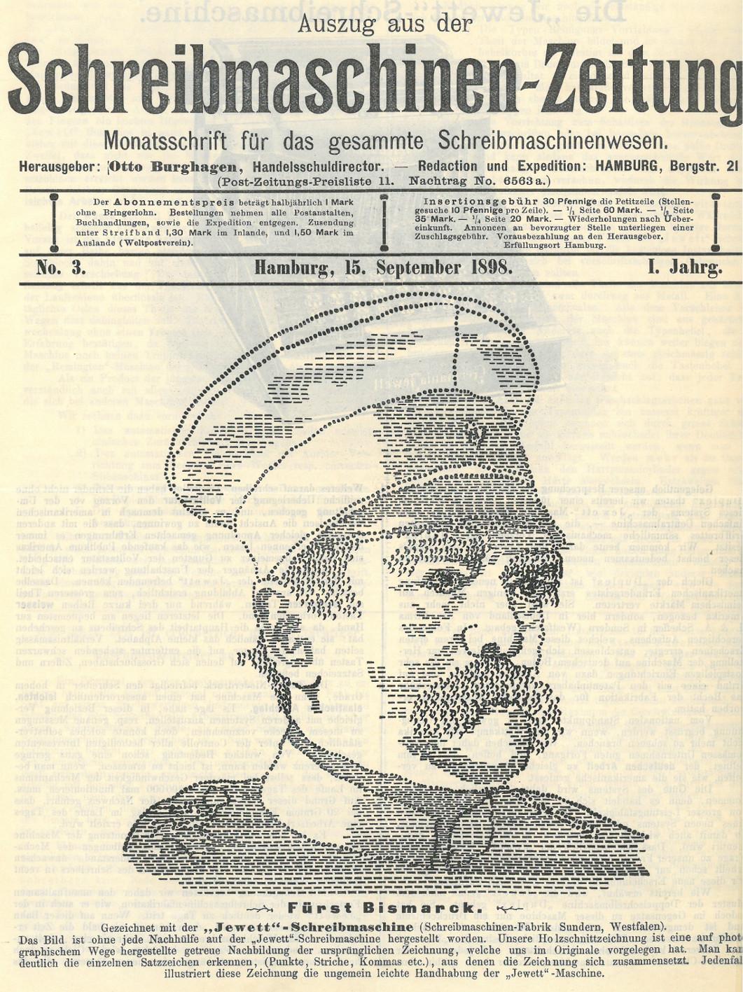 Otto von Bismarck, getippt (aus PA AA, RZ 607, R 138985)