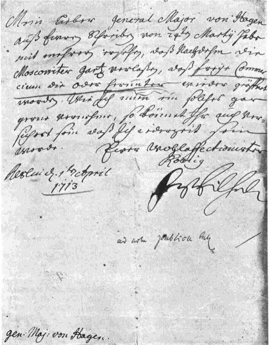 Die angebliche älteste Kabinettsorder: 1713 April 1